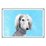 Saluki (Silver and White) Banner