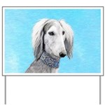Saluki (Silver and White) Yard Sign