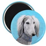 Saluki (Silver and White) Magnet