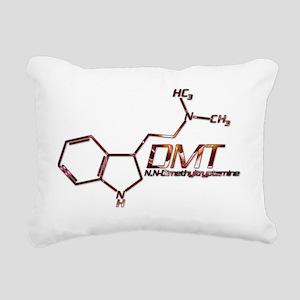 DMT Molecule Orange Rectangular Canvas Pillow