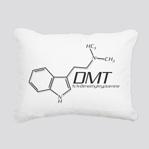 DMT Molecule Grey Rectangular Canvas Pillow