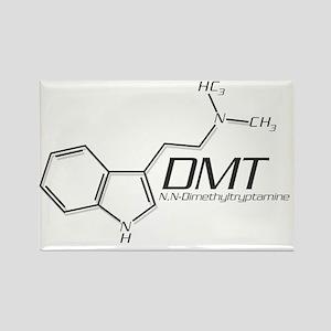 DMT Molecule Grey Rectangle Magnet