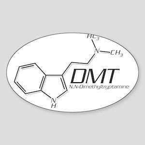 DMT Molecule Grey Sticker (Oval)