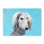 Saluki (Silver and White) 5'x7'Area Rug