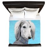 Saluki (Silver and White) King Duvet