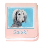 Saluki (Silver and White) baby blanket