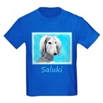 Saluki (Silver and White) Kids Dark T-Shirt