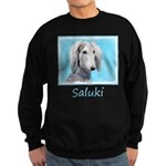 Saluki (Silver and White) Sweatshirt (dark)