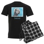 Saluki (Silver and White) Men's Dark Pajamas