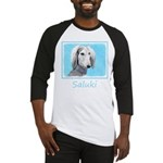 Saluki (Silver and White) Baseball Tee