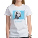 Saluki (Silver and W Women's Classic White T-Shirt