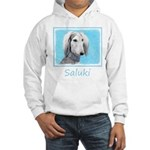 Saluki (Silver and White) Hooded Sweatshirt
