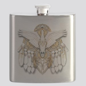 Native American Swan Mandala Flask