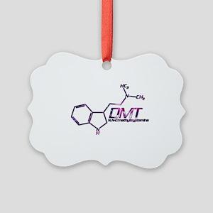 DMT Molecule Pink Picture Ornament