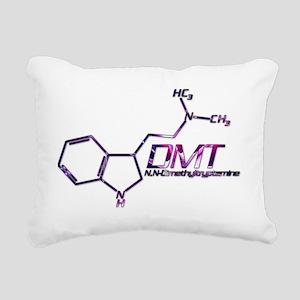 DMT Molecule Pink Rectangular Canvas Pillow