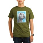 Saluki (Silver and Wh Organic Men's T-Shirt (dark)