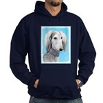Saluki (Silver and White) Hoodie (dark)