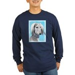 Saluki (Silver and White) Long Sleeve Dark T-Shirt