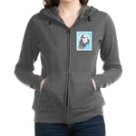 Saluki (Silver and White) Women's Zip Hoodie