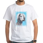 Saluki (Silver and White) White T-Shirt