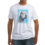 Saluki (Silver and White) Fitted T-Shirt