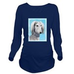 Saluki (Silver and W Long Sleeve Maternity T-Shirt