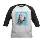 Saluki (Silver and White) Kids Baseball Tee