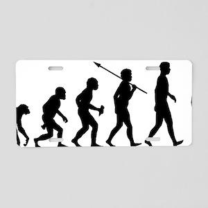 On-Crutches Aluminum License Plate