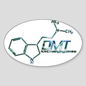 DMT Molecule Blue Sticker (Oval)
