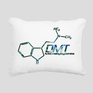 DMT Molecule Blue Rectangular Canvas Pillow
