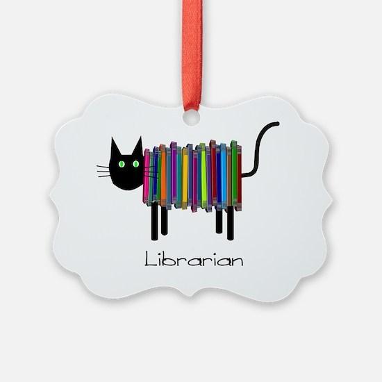 Librarian Book Cat Ornament