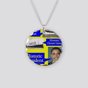 Historic President Necklace Circle Charm