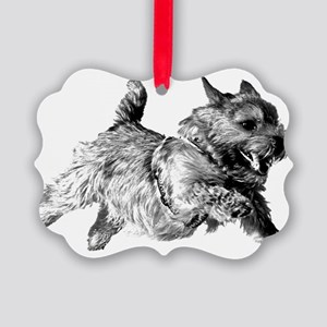 Running Norwich Terrier Male Picture Ornament