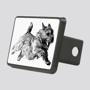 Running Norwich Terrier Ma Rectangular Hitch Cover