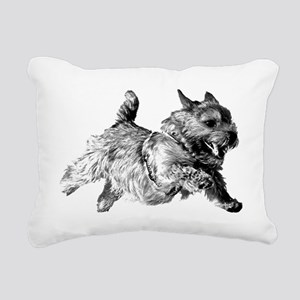 Running Norwich Terrier  Rectangular Canvas Pillow