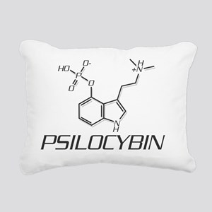 Psilocybin Molecule Rectangular Canvas Pillow