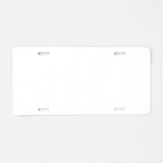 Harmonica-Player1 Aluminum License Plate