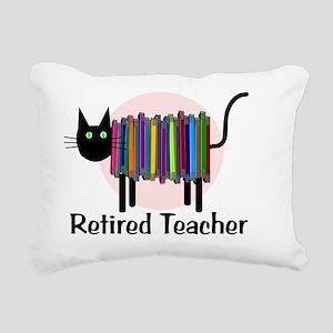 Retired Teacher Book Cat Rectangular Canvas Pillow