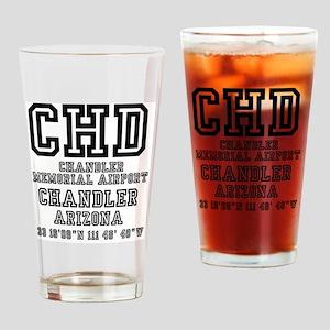 US JETPORT CODES - CHD - CHANDLER M Drinking Glass