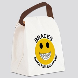 Braces Make Smiling Faces Canvas Lunch Bag