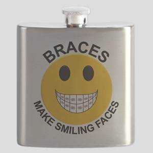 Braces Make Smiling Faces Flask