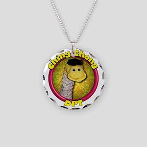 Ching Chong DARK Necklace Circle Charm