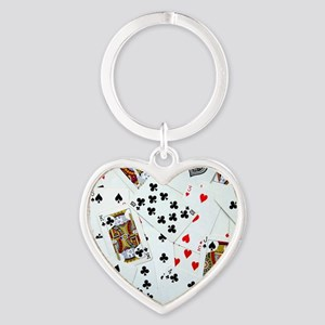 Playing Cards Heart Keychain