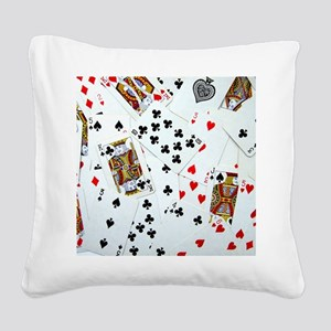 Playing Cards Square Canvas Pillow