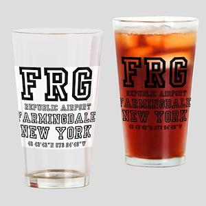 AIRPORT JETPORT  CODES - FRG - REPU Drinking Glass