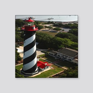 "St Augustine Lighthouse Aer Square Sticker 3"" x 3"""