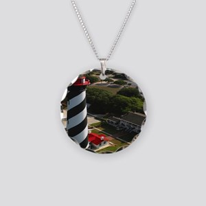 St Augustine Lighthouse Aeri Necklace Circle Charm