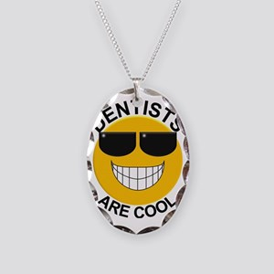 Dentists Are Cool with Glasses Necklace Oval Charm