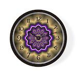 Kaleidoscope fractal wall clock