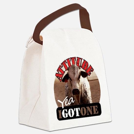 attitude yea i got one Canvas Lunch Bag